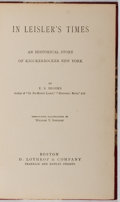 Books:Literature Pre-1900, E. S. Brooks. In Leisler's Times. Lothrop, 1886. Later edition. Half leather with darkened spine. Minor toning and f...