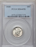 Mercury Dimes: , 1930 10C MS64 Full Bands PCGS. PCGS Population (187/247). NGCCensus: (63/72). Mintage: 6,770,000. Numismedia Wsl. Price fo...