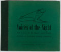 Books:Natural History Books & Prints, [Record Album]. Albert R. Brand Bird Song Foundation. Voices of the Night. Comstock, [n. d.]. Album of five 33RPM re...