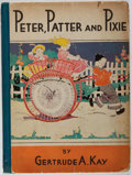 Books:Children's Books, Gertrude A. Kay. Peter, Patter and Pixie. McBride, 1931.First edition, first printing. Boards cracked and worn. Ton...