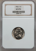 Jefferson Nickels, 1952-S 5C MS67 W NGC. NGC Census: (41/0). PCGS Population (1/0).Mintage: 20,572,000. Numismedia Wsl. Price for problem fre...
