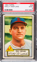 Baseball Cards:Singles (1950-1959), 1952 Topps Wally Westlake, Red Back #38 PSA Mint 9 - Pop Four, None Higher! ...