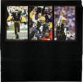 Football Collectibles:Photos, 2007 Brett Favre Signed Oversized Photograph Collage Prints Lot of50....