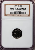 Proof Roosevelt Dimes: , 1970-S 10C PR69 Ultra Cameo NGC. NGC Census: (96/0). PCGSPopulation (186/0). Numismedia Wsl. Price for problem free NGC/P...