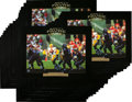 Football Collectibles:Photos, 1996 Brett Favre Signed Oversized Photograph Prints Lot of 48...