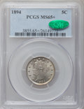 Liberty Nickels, 1894 5C MS65+ PCGS. CAC....