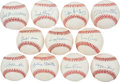 Autographs:Baseballs, 1980's 500 Home Run Club Single Signed Baseballs Lot of 11....