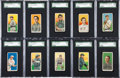 Baseball Cards:Lots, 1909-11 T206 White Borders Collection (157) With HoFers. ...