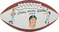 "Autographs:Others, Circa 1990 ""Mickey Charles Mantle No. 7"" Single Signed Football...."