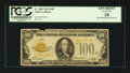 Small Size:Gold Certificates, Fr. 2405 $100 1928 Gold Certificate. PCGS Apparent Very Good 10.. ...