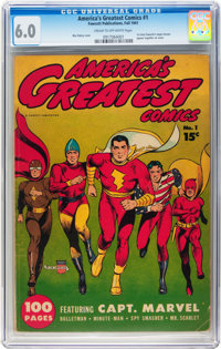 America's Greatest Comics #1 (Fawcett Publications, 1941) CGC FN 6.0 Cream to off-white pages