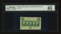 Fractional Currency:First Issue, Fr. 1313 50¢ First Issue PMG Gem Uncirculated 65EPQ.. ...