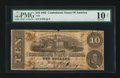 Confederate Notes:1862 Issues, T52 $10 1862 PF-13 Cr. 377.. ...