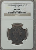 Large Cents, 1796 1C Draped Bust, Reverse of 1797 VG8 NGC. S-115, B-43, R.3....
