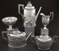Silver Holloware, American:Tea Sets, A FIVE PIECE JOHN C. MOORE SILVER TEA AND COFFEE SERVICE FORTIFFANY & CO.. John C. Moore, New York, New York, circa 1853.M... (Total: 5 Items)