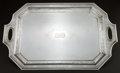Silver Holloware, American:Trays, A DURGIN SILVER TWO-HANDLED SERVING TRAY . Wm. B. Durgin Co.,Concord, New Hampshire, circa 1945. Marks: D (script), ...