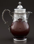 Silver Holloware, French:Holloware, A PAUL CANAUX SILVER MOUNTED EARTHENWARE CHOCOLATE POT . PaulCanaux & Cie., Paris, France, circa 1900. Marks: (Medusahead...