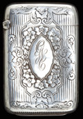 Silver Smalls:Match Safes, A WEBSTER SILVER MATCH SAFE . Webster Co., North Attleboro,Massachusetts, circa 1900. Marks: WCo (intertwined witharro...