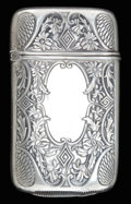Silver Smalls:Match Safes, A WEBSTER SILVER AND SILVER GILT MATCH SAFE . Webster Co., NorthAttleboro, Massachusetts, circa 1880. Marks: WCo (inter...