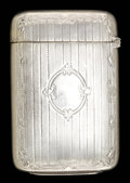 Silver Smalls:Match Safes, A WEBSTER SILVER AND SILVER GILT MATCH SAFE . Webster Co., NorthAttleboro, Massachusetts, circa 1890. Marks: WCo (inter...