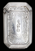 Silver Smalls:Match Safes, A WEBSTER SILVER MATCH SAFE . Webster Co., North Attleboro,Massachusetts, circa 1875. Marks: WCo (intertwined witharro...