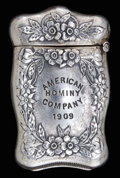 Silver Smalls:Match Safes, A WEBSTER SILVER AND SILVER GILT MATCH SAFE . Webster Co., NorthAttleboro, Massachusetts, circa 1909. Marks: WCo (inter...