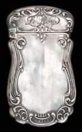 Silver Smalls:Match Safes, A SCHIMPER SILVER MATCH SAFE . William Schimper & Co., Hoboken,New Jersey, circa 1900. Marks: WS&CO., STERLING, 2263.2...