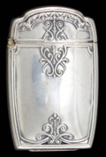 Silver Smalls:Match Safes, AN AMERICAN SILVER MATCH SAFE . Maker unknown, American, circa1900. Marks: STERLING. 2-3/8 inches high (5.9 cm). .73 tr...