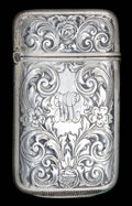 Silver Smalls:Match Safes, A WEBSTER SILVER AND SILVER GILT MATCH SAFE . Webster Co., NorthAttleboro, Massachusetts, circa 1875. Marks: WCo (inter...