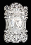 Silver Smalls:Match Safes, AN AMERICAN SILVER MATCH SAFE . Maker unknown, American, circa1880. Marks: STERLING . 2-3/8 inches high (5.9 cm). 1 tro...