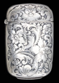 Silver Smalls:Match Safes, AN AMERICAN SILVER MATCH SAFE . Maker unknown, American, circa1880. Marks: STERLING. 2-1/2 inches high (6.4 cm). .82 tr...