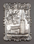 Silver Smalls:Other , AN AMERICAN SILVER CARD CASE . Maker unknown, American, circa 1880.Unmarked. 3-1/2 inches high (8.9 cm). 1.18 troy ounces. ...