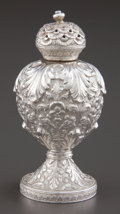 Silver Holloware, Continental:Holloware, AN INDIAN SILVER PEPPER SHAKER . Maker unknown, India, circa 1880.Unmarked. 3-3/4 inches high (9.5 cm). 2.92 troy ounces. ...