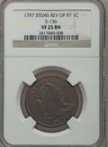 Large Cents, 1797 1C Reverse of 1797, Stems VF25 NGC. S-136, B-7, R.3....