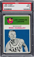 Basketball Cards:Singles (Pre-1970), 1961 Fleer Rod Hundley #21 PSA Mint 9 - None Higher! ...