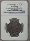 Large Cents, 1797 1C Reverse of 1797, Stems -- Environmental Damage -- NGCDetails. XF. S-137, B-8, R.2....
