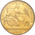 Commemorative Gold, 1915-S $2 1/2 Panama-Pacific Quarter Eagle MS64 PCGS. CAC....