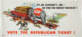 Political:Posters & Broadsides (1896-present), Herbert Hoover and Alf Landon: Four Posters.... (Total: 4 Items)