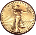 Errors, 1988 G$50 One-Ounce Gold Eagle -- Obverse Struck Through -- MS65 NGC....