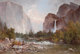THOMAS HILL (British/American, 1829-1908) Fishing in the Yosemite Valley, 1891 Oil on canvas 36-1/2 x 53-1/2 inches (