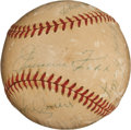 Autographs:Baseballs, Circa 1950 Hall of Famers Multi-Signed Baseball with Foxx, Clarke....