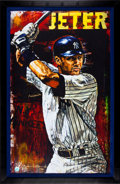 Autographs:Others, Circa 2009 Derek Jeter Signed Giclee by Stephen Holland....