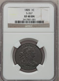 Large Cents, 1805 1C XF40 NGC. S-267, B-1, R.1....