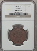 Large Cents, 1805 1C VF35 NGC. S-268, B-2, R.3....