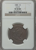 Large Cents, 1800 1C VF30 NGC. S-212, B-20, R.3....