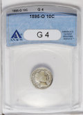 Barber Dimes: , 1895-O 10C G4 ANACS. NGC Census: (10/157). PCGS Population(12/170). Mintage: 440,000. Numismedia Wsl. Price: $283. (#4807)...