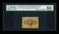 Fractional Currency:First Issue, Fr. 1228(a?) 5¢ First Issue Perforated 16 PMG Choice Uncirculated 64 EPQ....