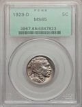 Buffalo Nickels, 1929-D 5C MS65 PCGS....