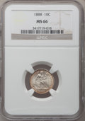 Seated Dimes, 1888 10C MS66 NGC....