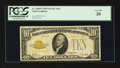 Small Size:Gold Certificates, Fr. 2400* $10 1928 Gold Certificate Star. PCGS Very Fine 20.. ...